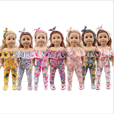 "Hot Handmade Accessories18"" Inch American Girl Doll Clothes Two-Piece +Headband"