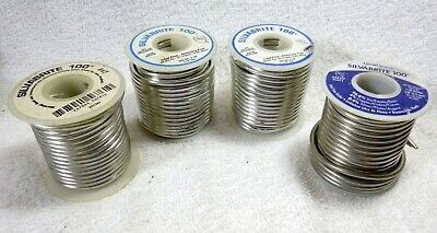 Silvabrite 100 Lead Free Solder - Lot of 4 (3 lbs.12 oz.)