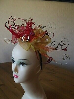 Bespoke handmade multi-coloured fascinator
