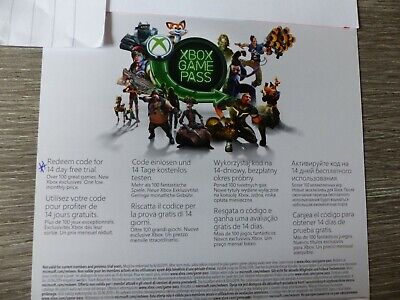 Xbox Game Pass 14 Day Trial Subscription Code Xbox One (A)