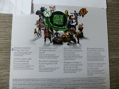 Xbox Game Pass 14 Day Trial Subscription Code Xbox One (B)