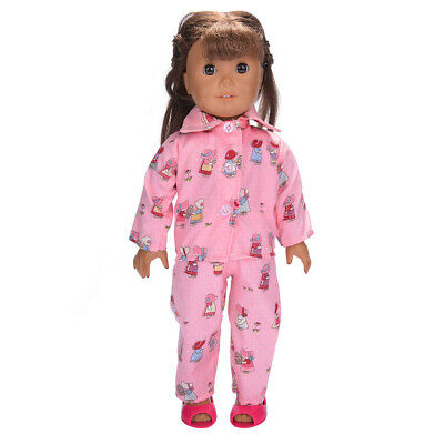 "Hot Handmade Accessories Fits 18"" Inch American Girl Doll Clothes Pajama set"