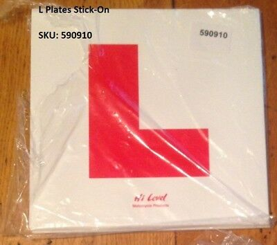 Learner L Plate for Motorcycle (2 Self Adhesive Sticky Learner Plates) TWO