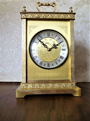 "A Large Case Traditional Vintage Brass Carriage Clock by Avia ~ 10½"" tall (26cm)"