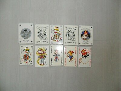 Vintage : lot de 10 jokers - playing cards