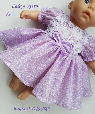 """Baby Annabell Clothes Tiny Treasures   17"""" 18"""" 19"""" Dolls  Dress Reborn Lilac"""