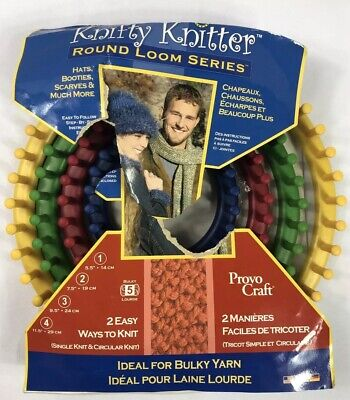 Knifty Knitter Provo Crafts Round Loom Series 4 Looms For Hats Booties Scarves