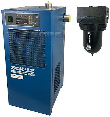 Schulz 125 Cfm Refrigerated Compressed Air Dryer, 25Hp & 30Hp Compressors, 115V
