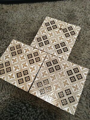 3  x c1845 Minton & Co.   Stoke Upon Trent floor tiles