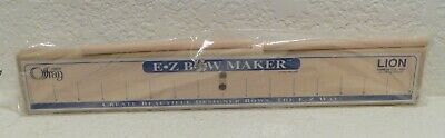 NEW Offray EZ Bow Maker Lion Ribbon Co Tool Designer Bows E-Z +Instructions