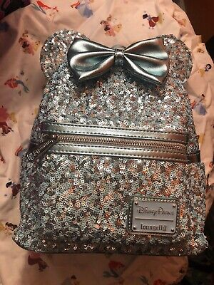 NEW Walt Disney World Parks Loungefly FROZEN  Arendelle Aqua Sequin Backpack
