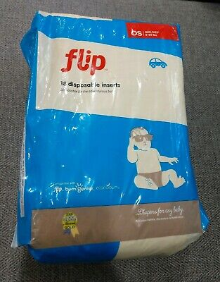 Flip One Size 8-35 Lbs 18 Disposable Inserts Cloth Diapers Baby Toddler Sealed