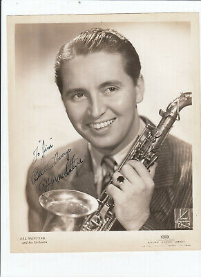Hal McIntyre SIGNED AUTOGRAPHED 8x10 glossy photo - Goodman Miller Bands D. 1959