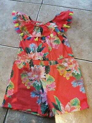 River Island Toddler Girls Tropical Print Playsuit 2-3 Years
