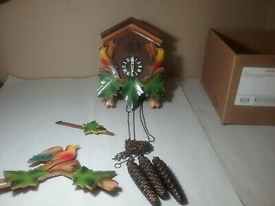 Vintage Musical  Cuckoo Clock With Weights And Chains