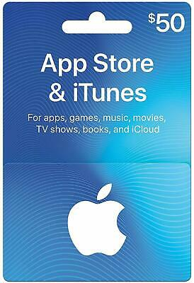 $50 App Store & iTunes gift card (Physical Card)