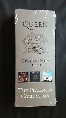 QUEEN - The Greatest Hits - Platinum Collection (UK Withdrawn Long Card Box)