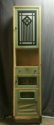 Antique Jadeite Green Art Deco Cabinet Cupboard Barber Shop Vtg Bathroom 195-19J