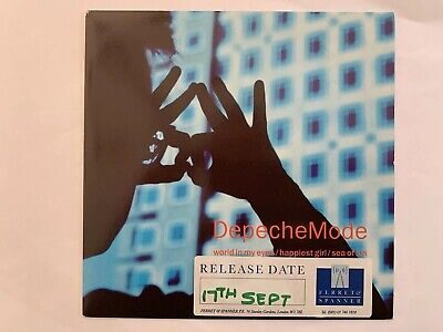 "Depeche Mode World In My Eyes UK 7"" Promo With Ferret & Spanner Sticker"