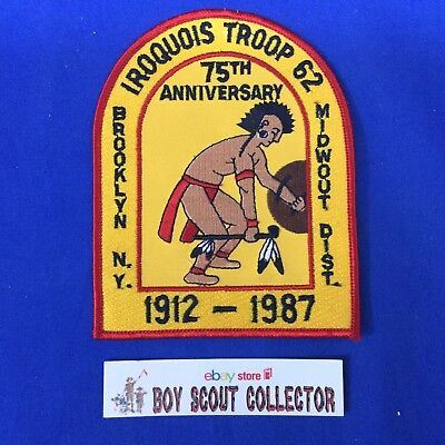 Boy Scout 1987 Iroquois Troop 62 Brooklyn NY 75th Patch