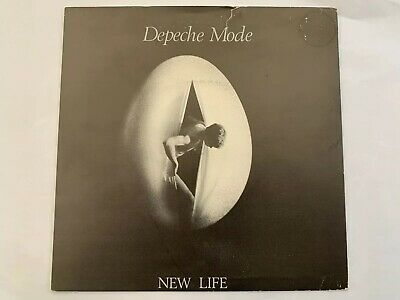 "Depeche Mode New Life UK 7"" With Ferret Plugging Sticker"