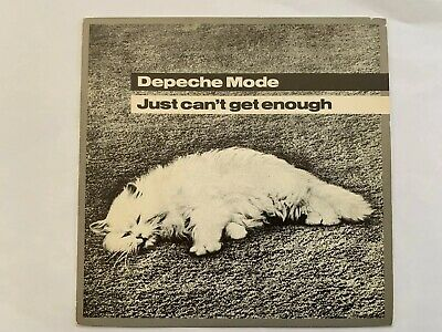 "Depeche Mode Just Can't Get Enough UK 7"" With Ferret Plugging Sticker"