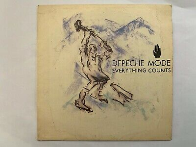 "Depeche Mode Everything Counts UK 7"" With Ferret Plugging Sticker"