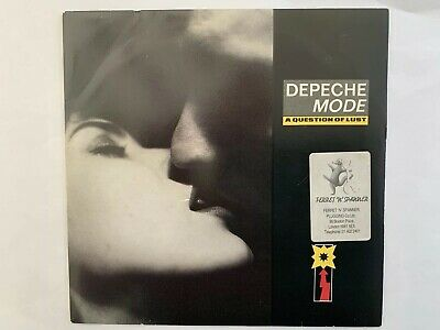 "Depeche Mode A Question Of Lust UK 7"" With Ferret & Spanner Sticker"