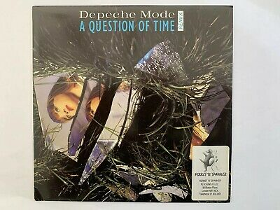 "Depeche Mode A Question Of Time UK 7"" Remix Edit With Ferret & Spanner Sticker"