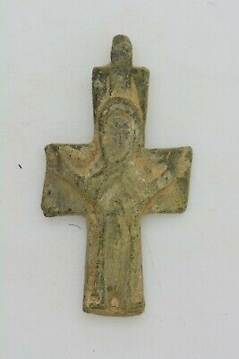 Byzantine bronze cross Virgin Mary 6-7th century AD