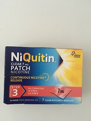 Niquitin step 3  7 clear patches continuous nicotine release