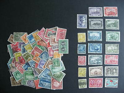 Canada 90 different 1898 to 1940 era used stamps, mixed cond, check them out!