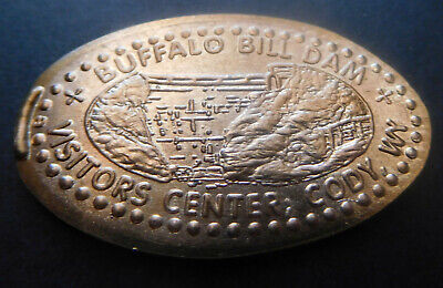 Cody,Wyoming - Buffalo Bill Dam Visitors Center Retired Copper Elongated Penny