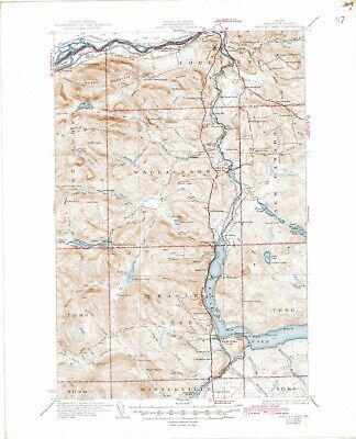 USGS Topographic Map, Eagle Lake, Maine, 7.5 Minute Series, Reprinted in 1944