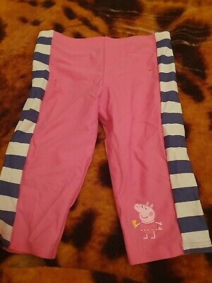 Lovely Girls M&S Peppa Pig Swimming Shorts Age 3-4 Years
