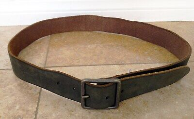 LUCKY Brand BKM0157 Washed Brown Vintage-Style 100% Leather Belt - Size 34