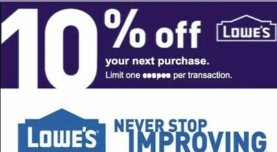 Lowes %10 Off Coupon. InStore/Online Sent Fast. Up to $500 OFF FAST
