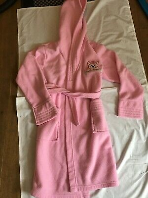 PINK FLEECE DRESSING GOWN 10-11 Yrs Dog Hooded