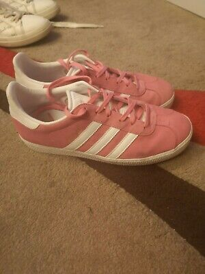 Adidas Gazelle Trainers Women's/Girl's  Pink/White Size 5