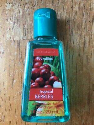 Bath & Body Works Tropical Berries Pocketbac Hand Sanitizer Retired Scent