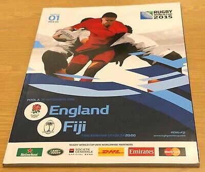 ENGLAND v FIJI PROGRAMME Rugby World Cup 2015 (18th September 2015) Twickenham