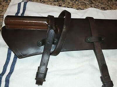 Original WWII M1 Garand 1942 Leather Scabbard US Army Willys Jeep Harley