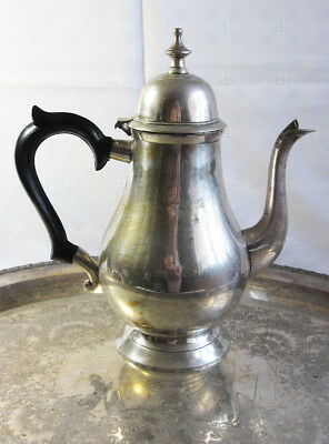 Antique Silver Hot Water / Teapot Coffee / Kettle Superb Condition