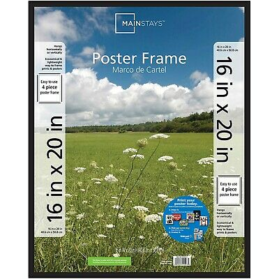 "Large Basic Poster & Picture Frame Black Art Photo Rectangle 16"" x 20"" inch"