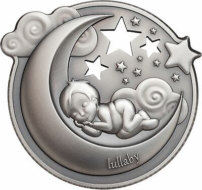 2018 $5 Cook Islands Lullaby - Dreaming Boy 1oz .999 Silver Antique Finish Coin