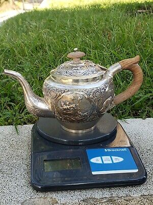 Wonderful Antiques Thailand Sterling Silver Teapot 387 grams