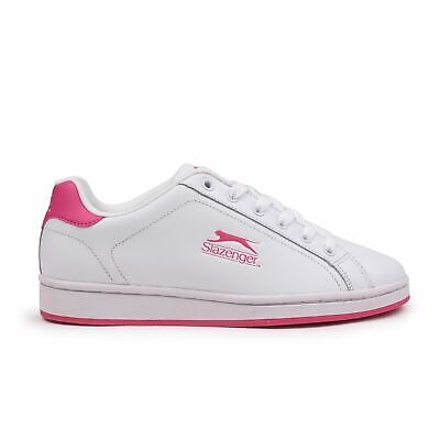 Slazenger Ash Lace Junior Trainers Girls Shoes Casual White Footwear Sneakers