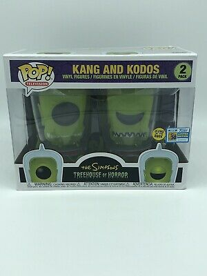 Sdcc 2019 Exclusive Funko Pop! Kang And Kodos Glow In Dark  Simpsons **Le**!!!
