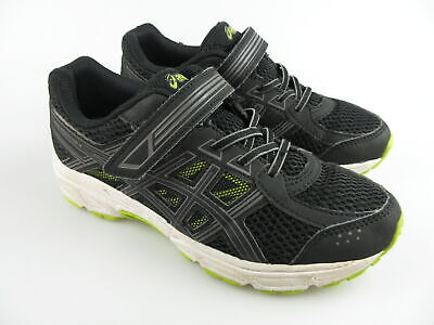 Boy's Girl's ASICS 'Pre Contend 4' Sz 3 US Runners Black | 3+ Extra 10% Off