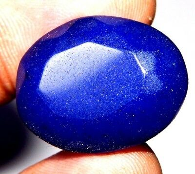 Dyed Faceted Blue Sapphire Gemstone S325